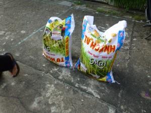 50 kg Reis für das TET-Fest